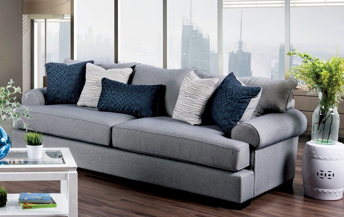 Gray Sofas For Living Room Gilda Gray Sofa