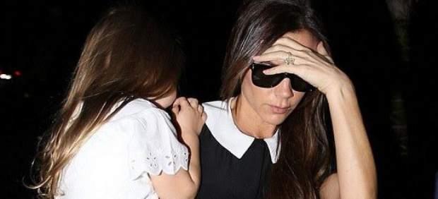Victoria Beckham con su hija Harper