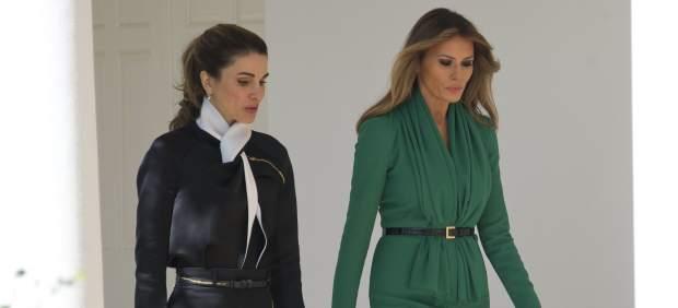 Rania de Jordania Y Melania Trump