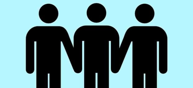 Tres hombres, poliamor