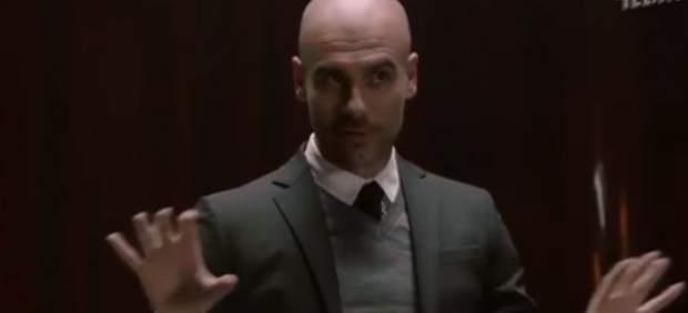 Pep Guardiola en un anuncio