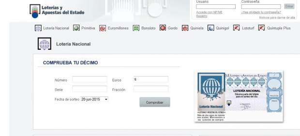 Ya es probable comprar Lotería Nacional por internet.