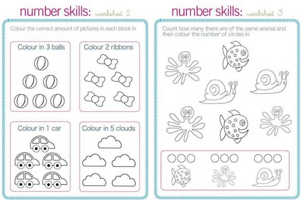 Printable School readiness work sheets Parent24