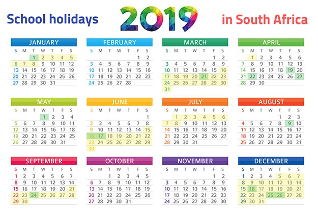 PRINT IT SA\u0027s school holidays 2019 calendar Parent24