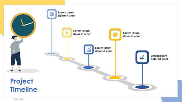Project Timeline Free PowerPoint Template