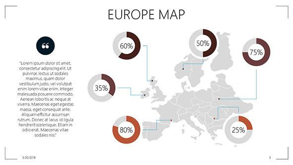 Europe Map Free PowerPoint Template