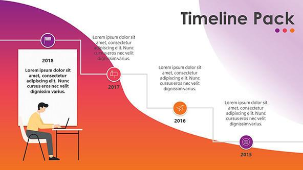 Creative Timeline Free PowerPoint Template