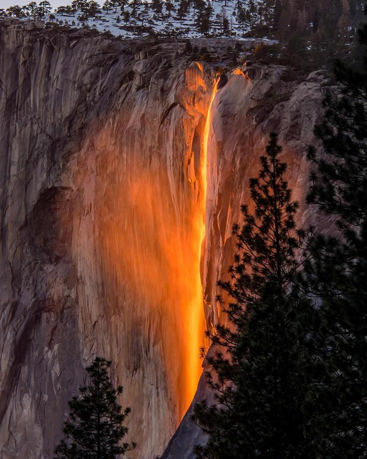 Yosemite Lava Falls Wallpaper Photos Sun Illuminates Horsetail Falls In Yosemite
