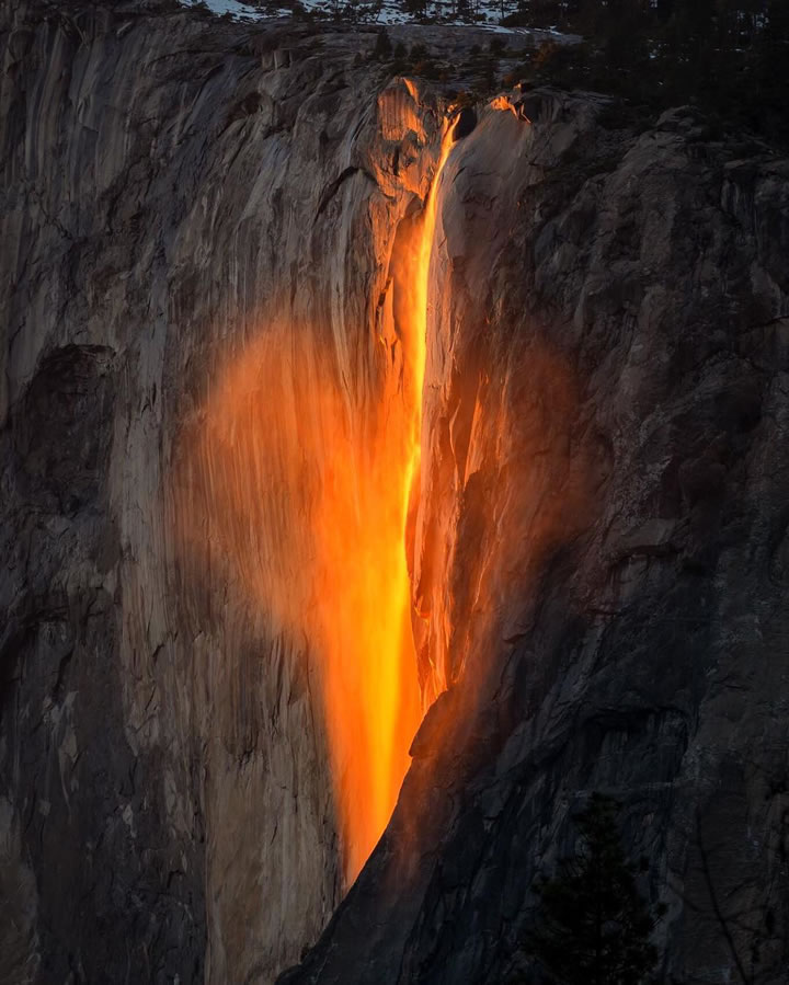 Hd Wallpaper Yosemite Fire Fall Photos Viewers Share Spectacular Images Of Horsetail