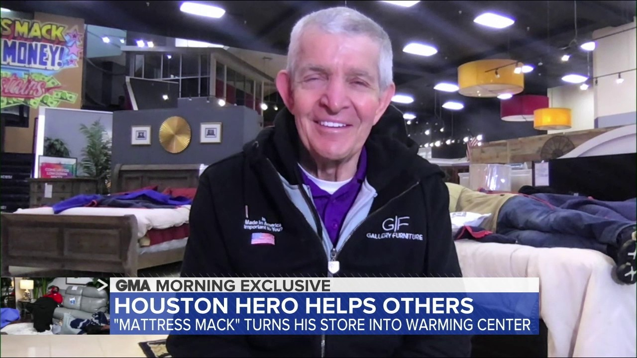 Houston Hero Mattress Mack Offers Furniture Store As Shelter Amid Winter Storms Watch His Good Morning America Interview Abc13 Houston