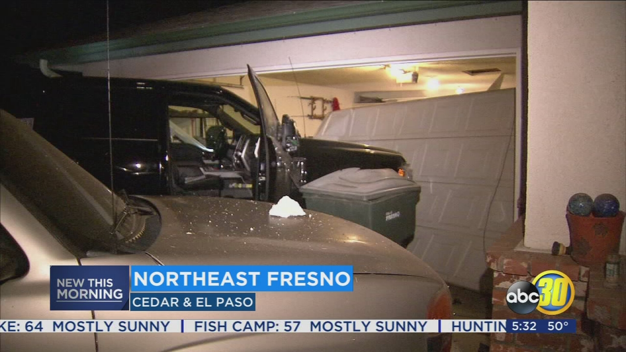 Garage Door Parts El Paso Police Search For Driver Who Crashed Into Northeast Fresno Home
