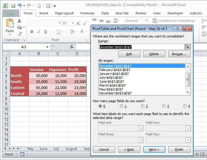 Group data in an Excel Pivot Table