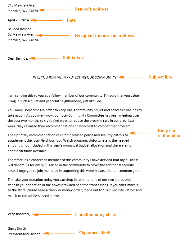 Personal Business Letter Samples