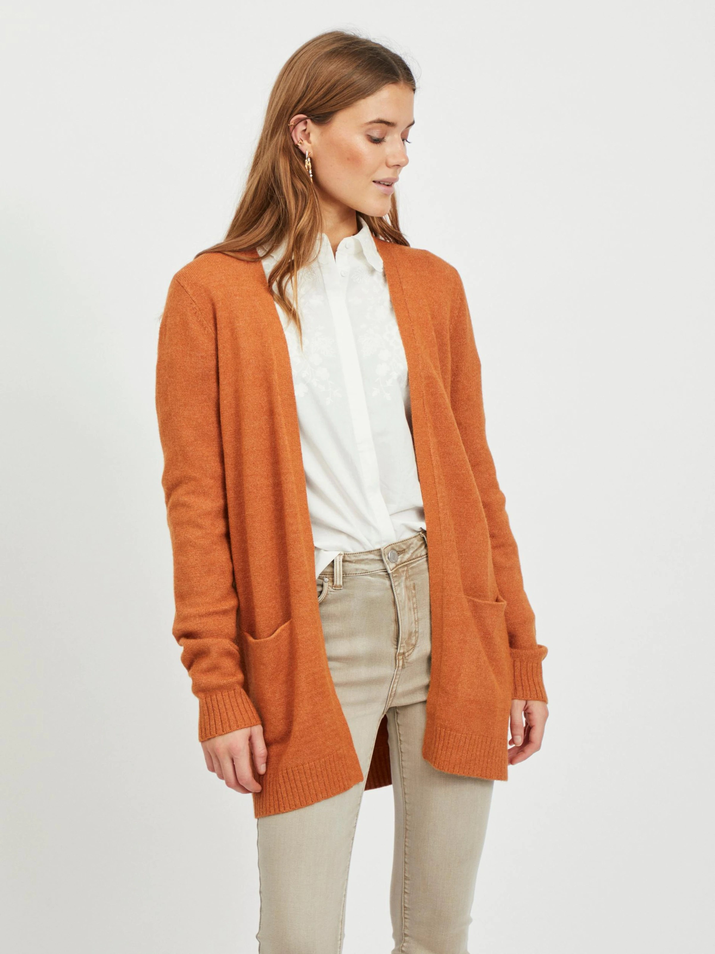 Knit Cardigan Orange For Women Buy Online About You