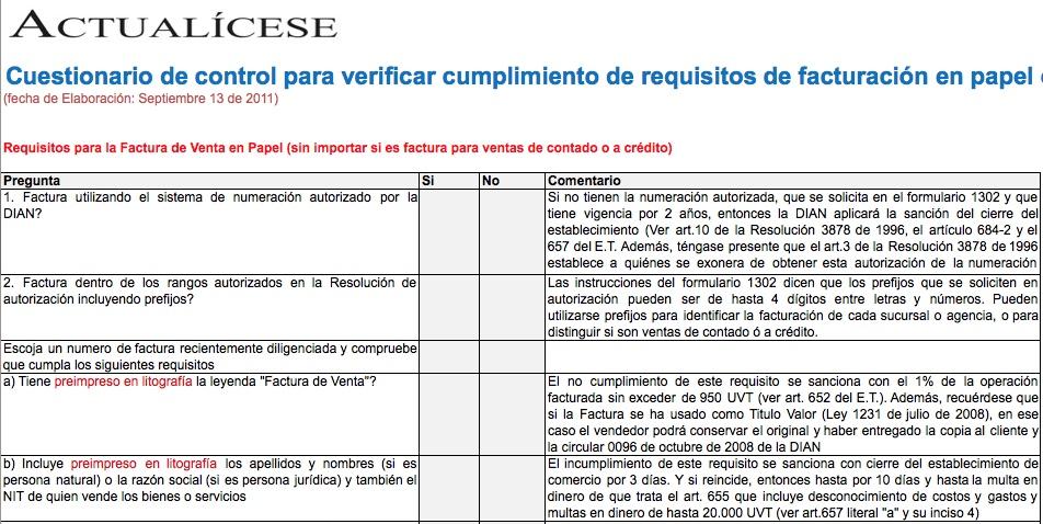 facturacion Modelos y Formatos