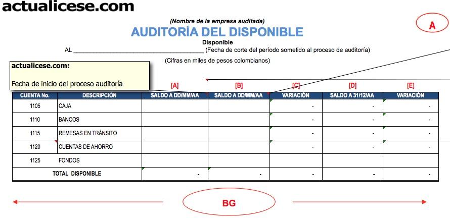 Auditoría Modelos y Formatos