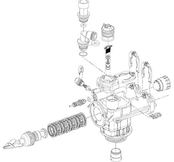 fleck 7000 control valve assembly