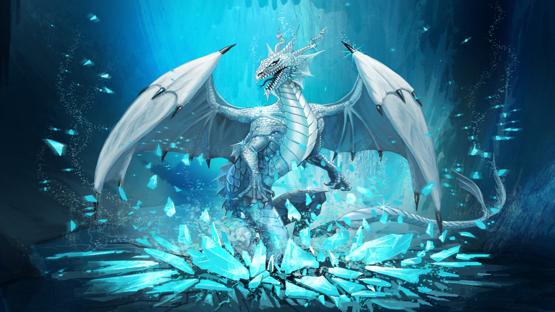 3d Magic Eye Moving Wallpapers Mythical Ice Dragons Www Imgkid Com The Image Kid Has It