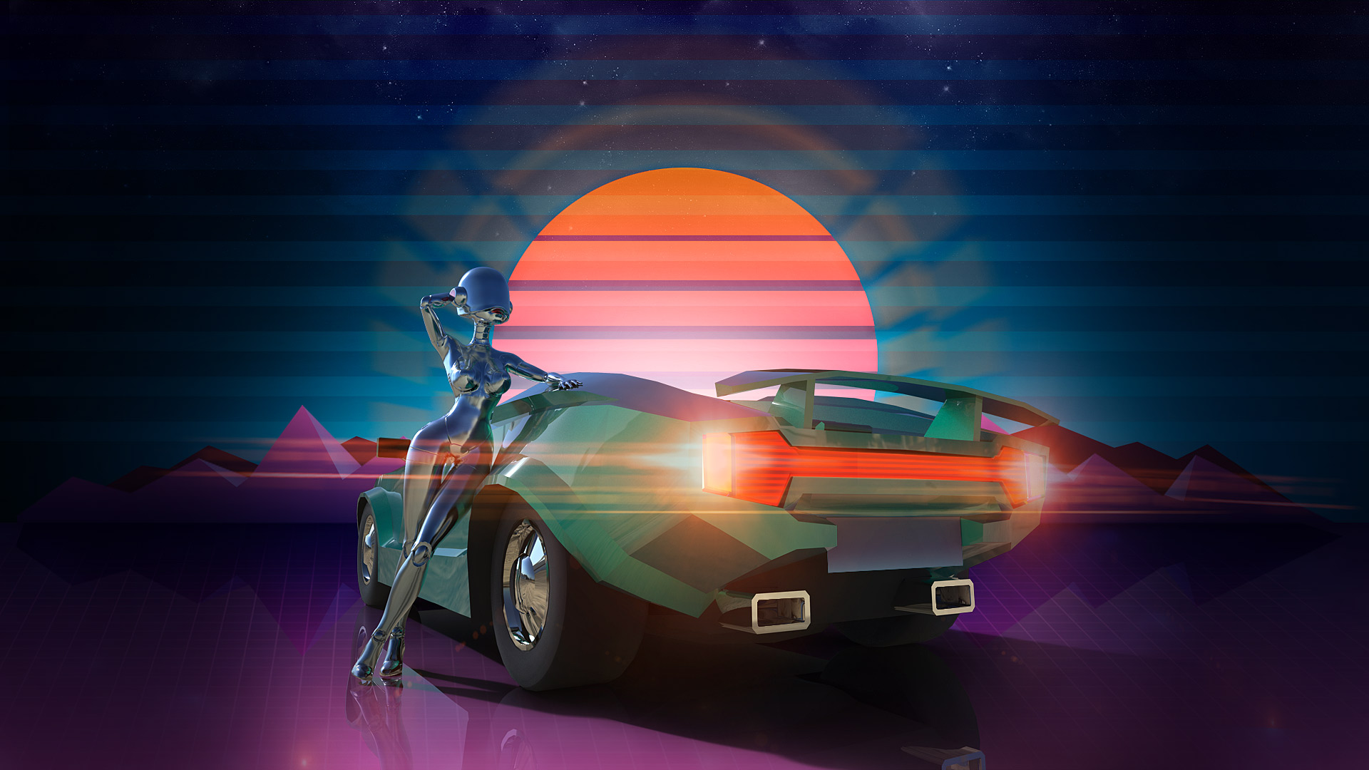 Neon Car Theme Wallpaper Steam Card Exchange