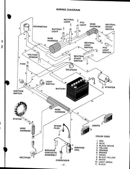 case 446 garden tractor wiring diagram