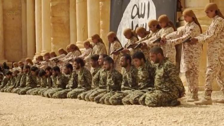 «داعش» يبث شريطاً مصوراً يظهر إعدام العشرات من جنود النظام السوري