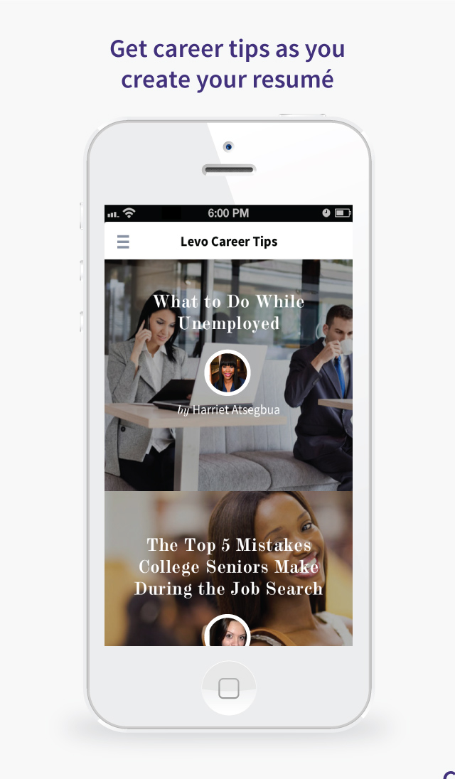 Levo League\u0027s Resume App Puts Sheryl Sandberg in Your Back Pocket