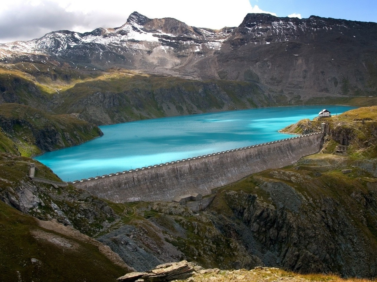 Best Hd Wallpapers For Mobile Screen Beautiful Dam In The Mountains Wallpaper Allwallpaper In