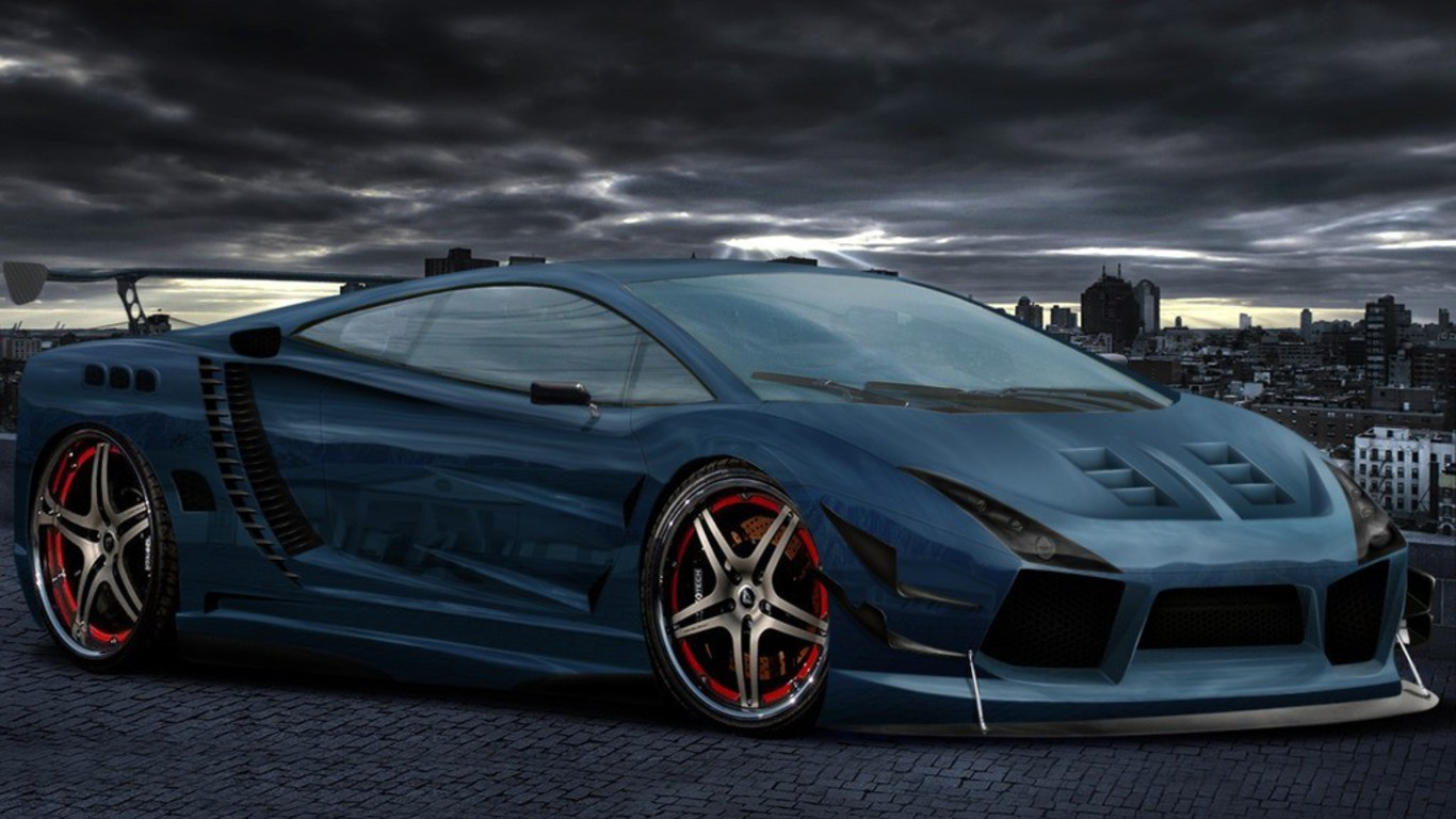 Free Car Wallpaper Download Mobile Cars Tuning Lamborghini Gallardo 3d Wallpaper