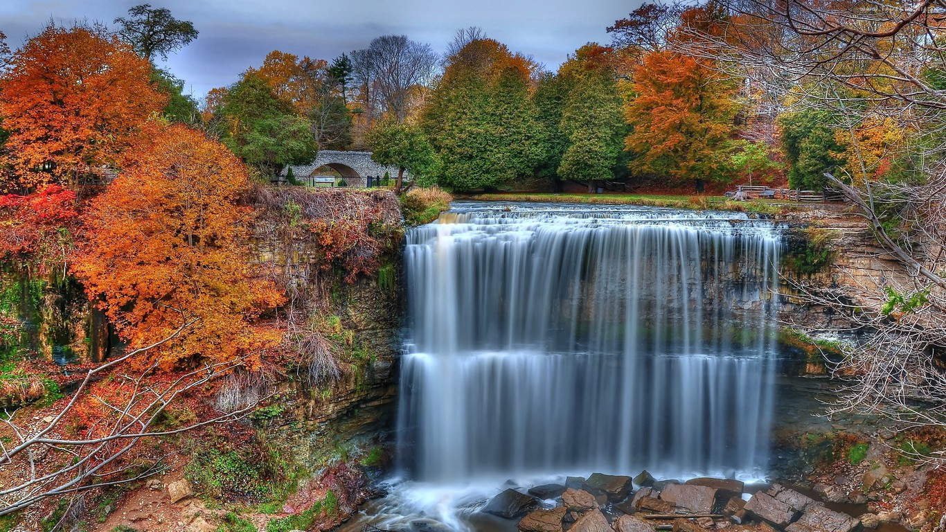 Thanksgiving 3d Wallpaper For Pc Colorful Waterfall Wallpaper Allwallpaper In 14337 Pc