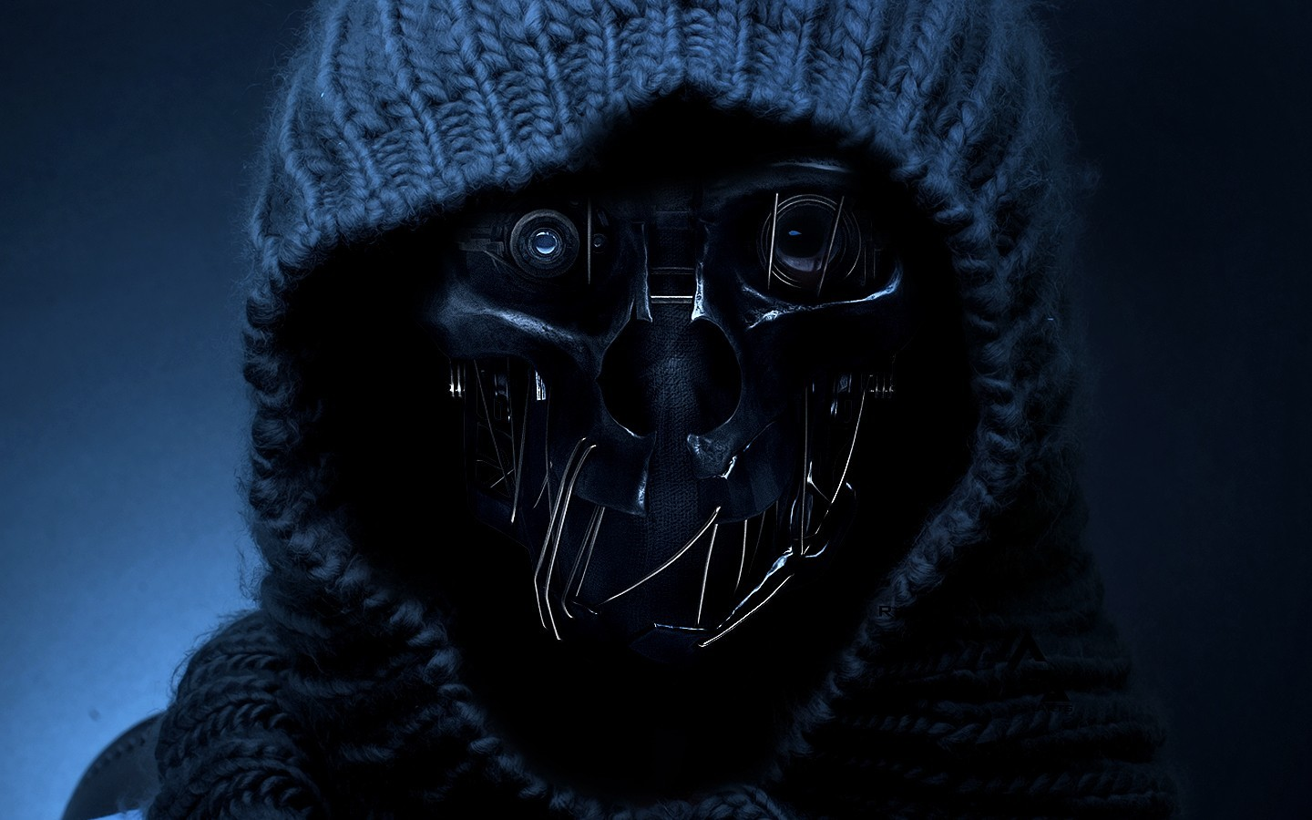 Gas Mask Wallpaper For Iphone Metal Masks Wool Apocalyptic Dishonored Hood Wallpaper