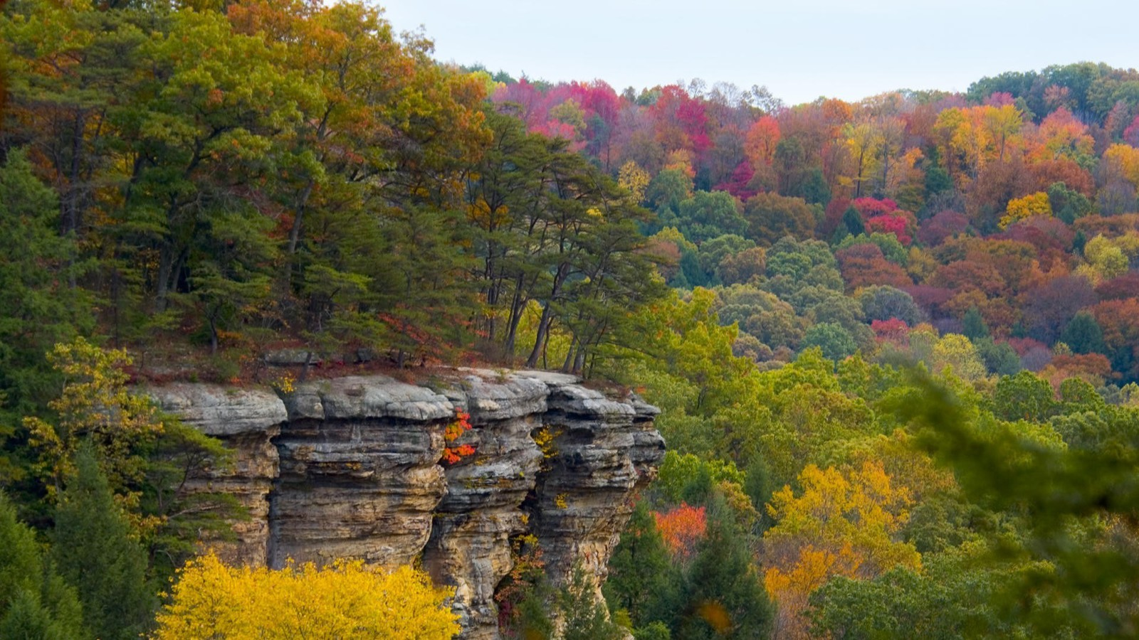 Free Wallpaper Fall 1600x900 Ohio Autumn Hills Wallpaper Allwallpaper In 10689 Pc En