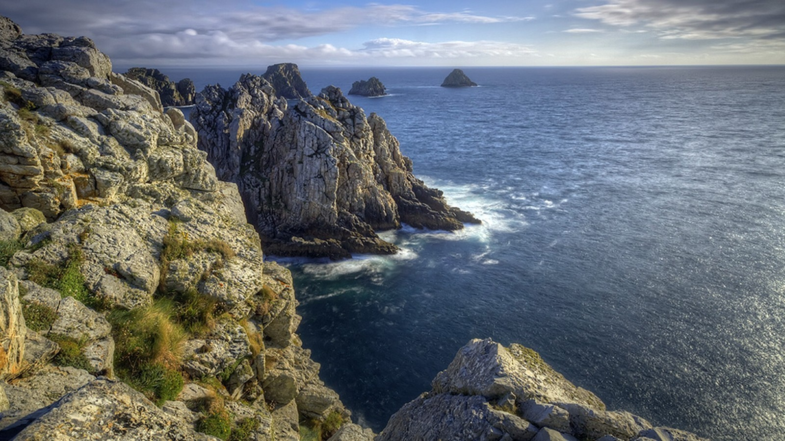 Best Iphone 5 Home Screen Wallpapers Bretagne France Cliffs Clouds Landscapes Wallpaper