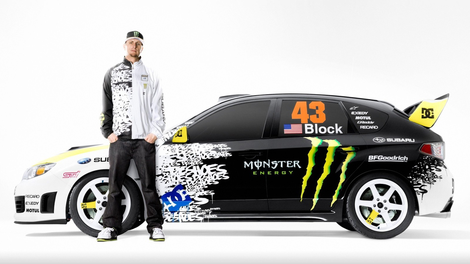 Monster Rally Car Wallpaper Ken Block Subaru Impreza Wrx Sti Cars Wallpaper