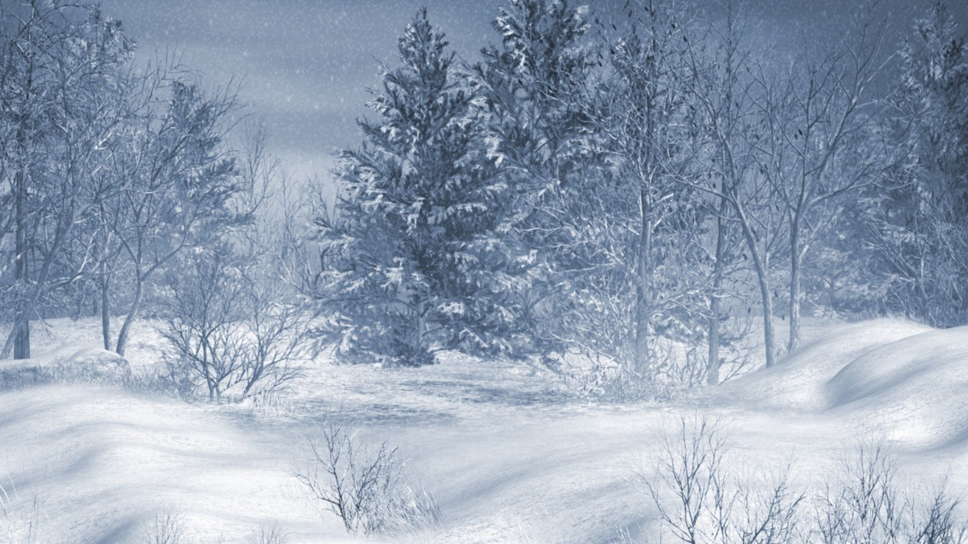 Snow Falling Wallpaper For Ipad Landscapes Nature Winter Snow Trees Wallpaper