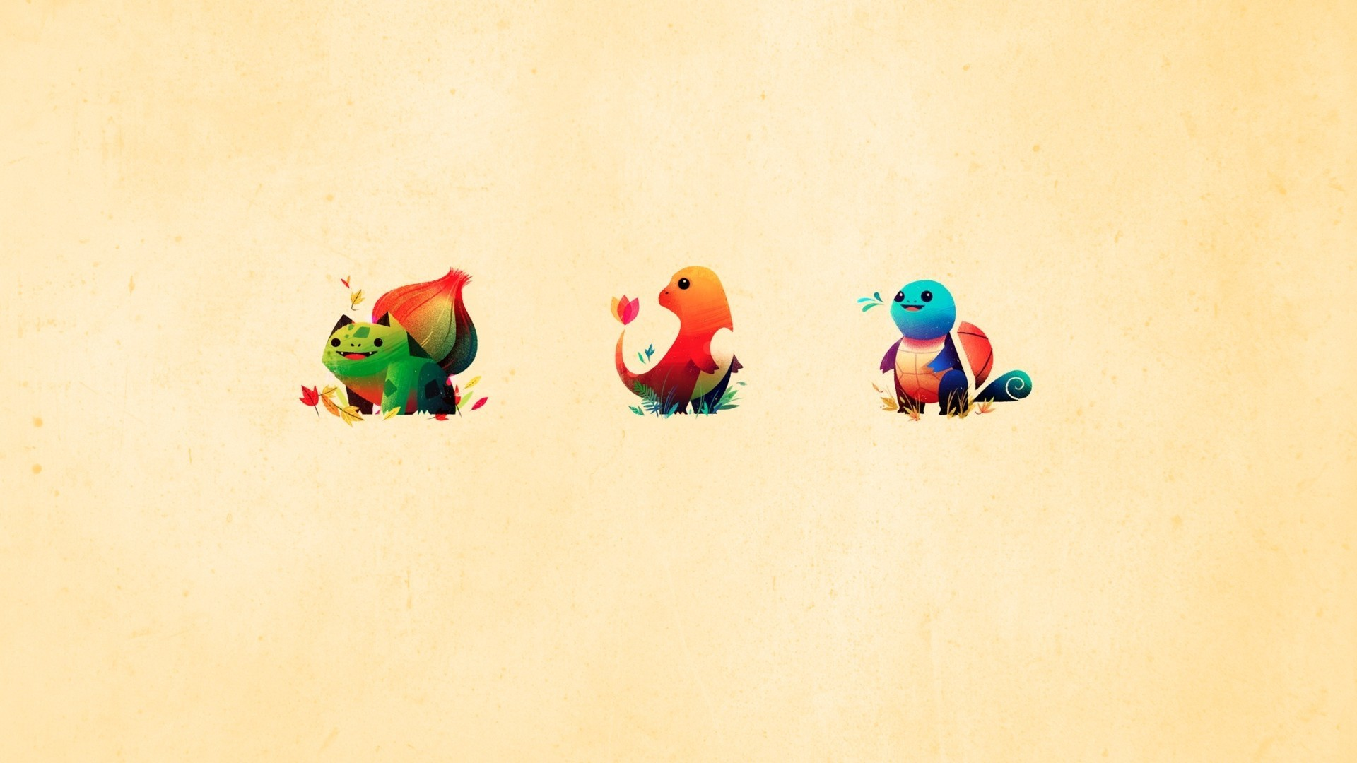 Gravity Falls Wallpaper Iphone 4 Minimalistic Bulbasaur Squirtle Charmander Wallpaper