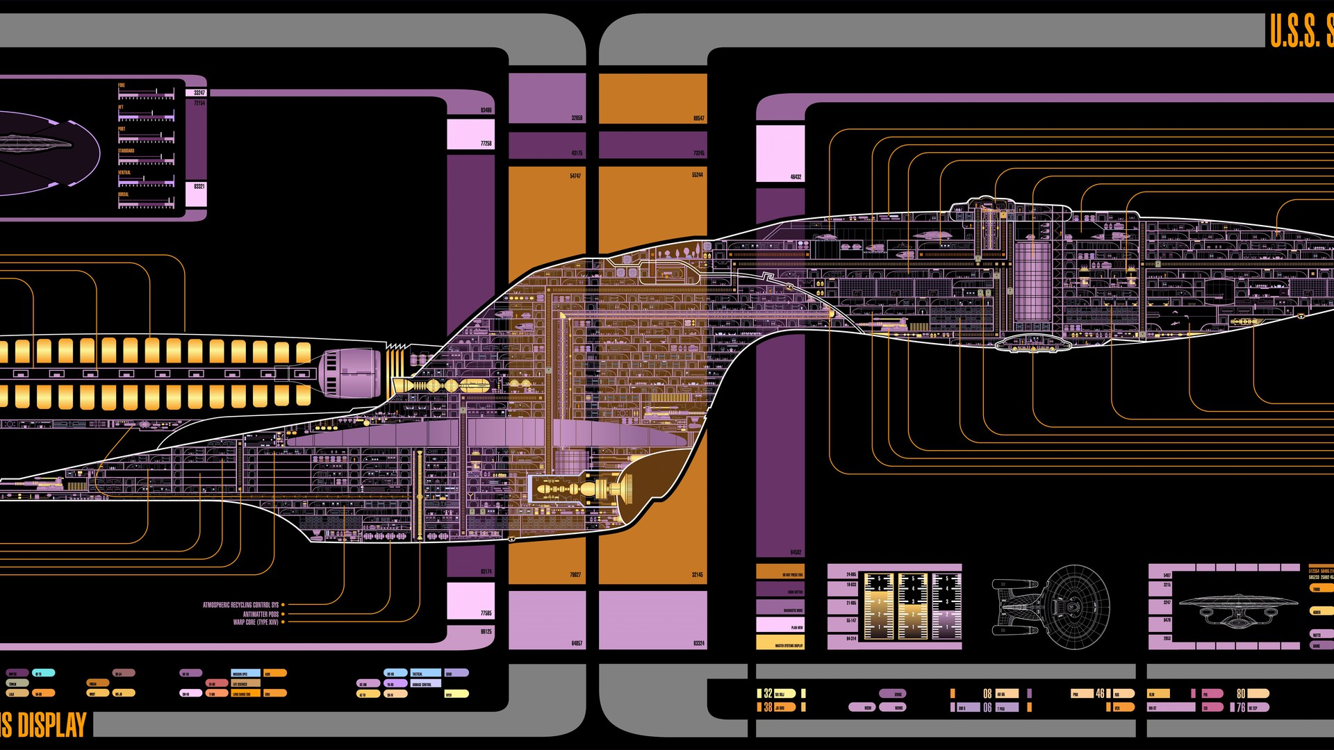 Star Trek Iphone X Wallpaper Star Trek The Next Generation Voyager Final Schematics