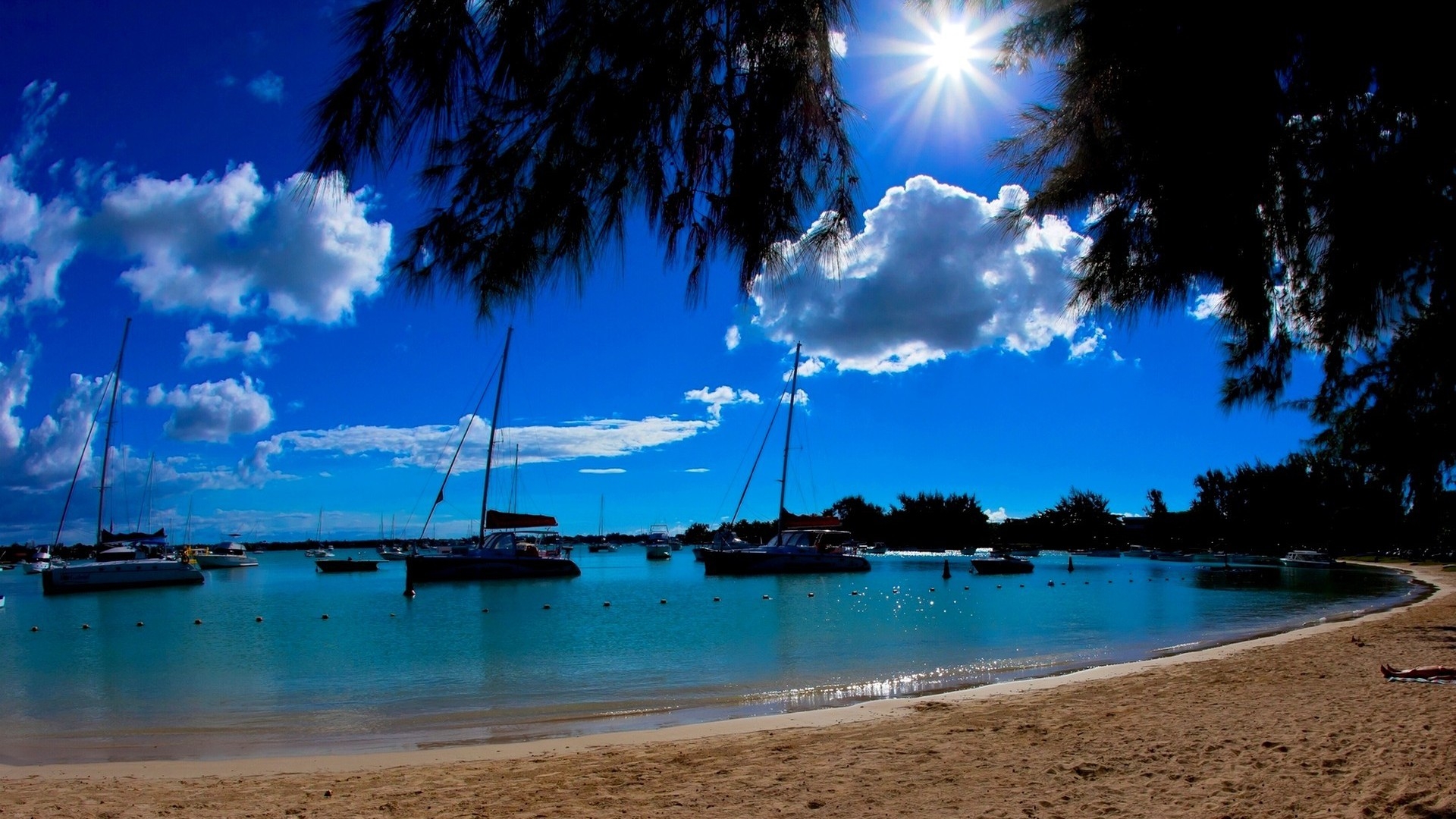 Bright Hd Wallpapers For Iphone Bright Day At Mauritius Wallpaper Allwallpaper In 7578