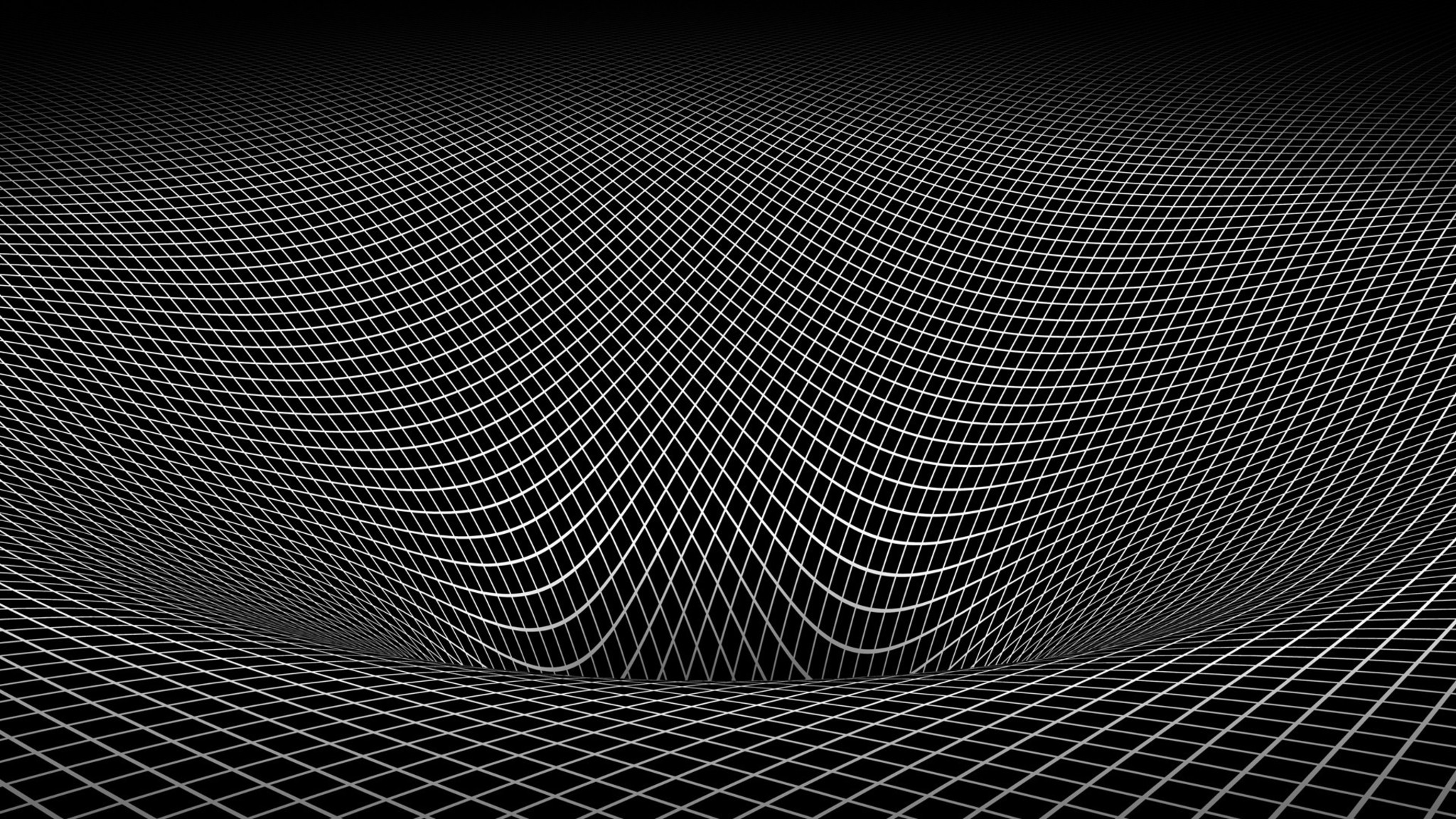 Mozilla Firefox Wallpaper 3d Abstract Black And White Gravity Hole 3d Warped Wallpaper