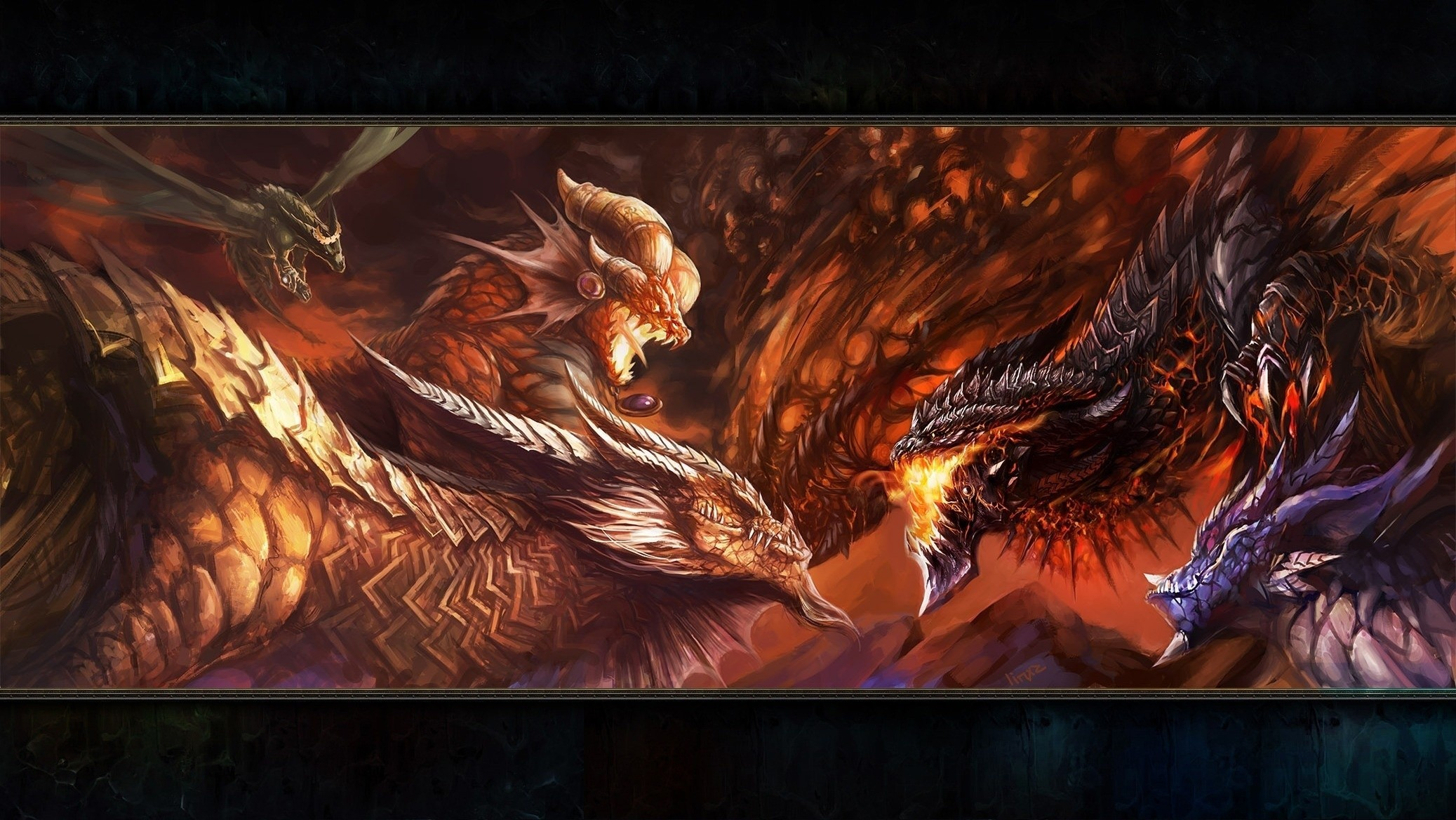 Fantasy World Art Dragon World Of Warcraft Artwork Deathwing Dragons Fantasy Art