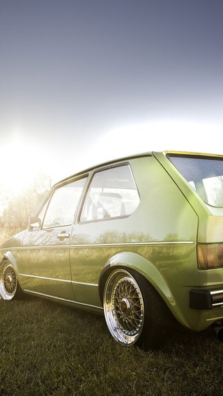 Vw Gti Wallpaper Iphone Gti Volkswagen Golf Lowered Stance Wallpaper