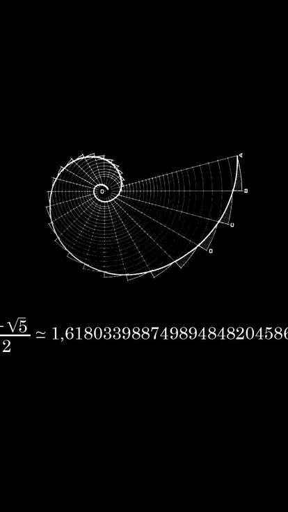 Motivational Quotes Wallpapers Iphone 6 Fibonacci Black Background Mathematics Physics Wallpaper