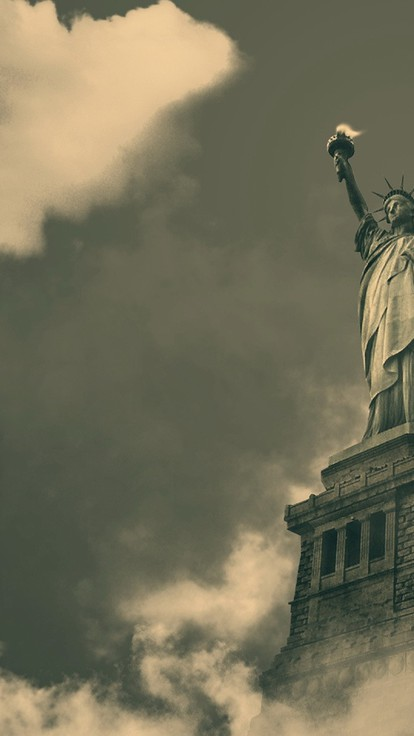 Statue Of Liberty Wallpaper Iphone Statue Of Liberty In The Clouds Wallpaper Allwallpaper