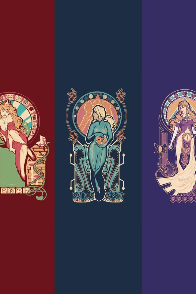 Free Hd Wallpaper For Desktop Background Art Nouveau Metroid Nintendo Princess Peach Zelda