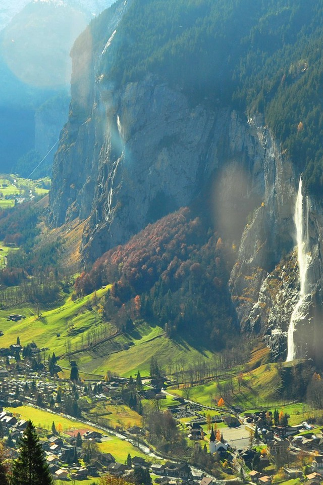 Fall Landscape Wallpaper Desktop Magnificent Valley In Switzerland Wallpaper Allwallpaper