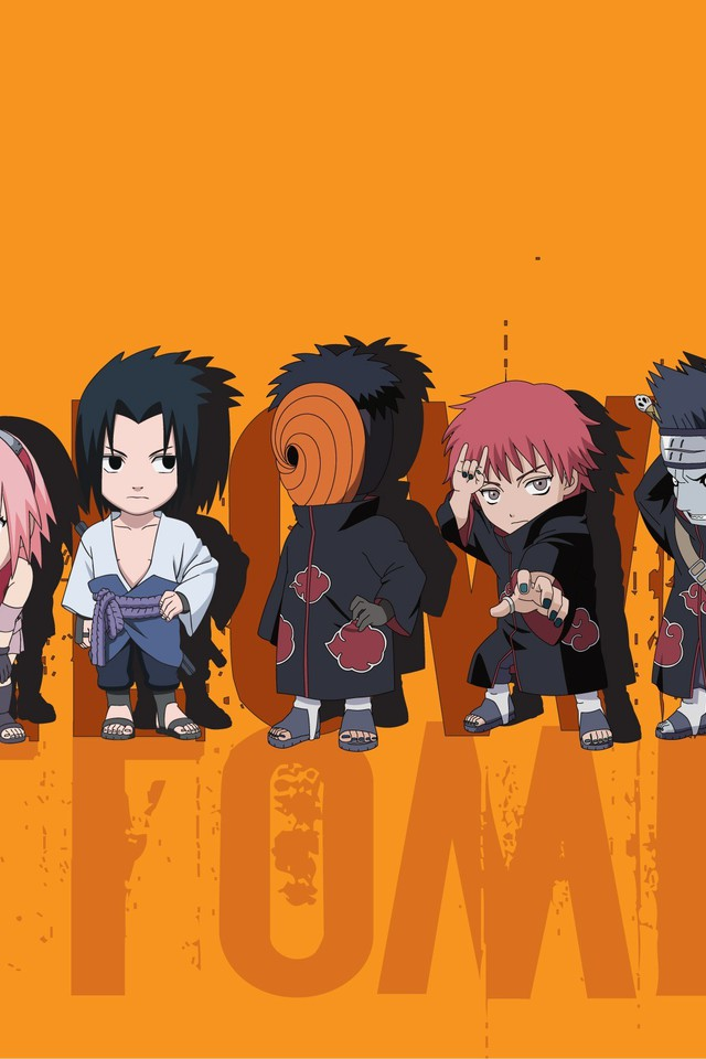 Hd Photos For Mobile Wallpaper Sasori Gaara Uzumaki Naruto Tobi Orange Background