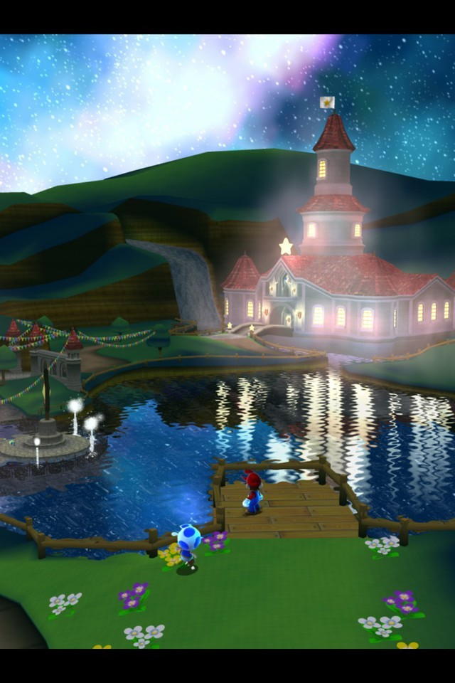 Mario Iphone Wallpaper Hd Mushroom Kingdom Super Mario Galaxy Wallpaper