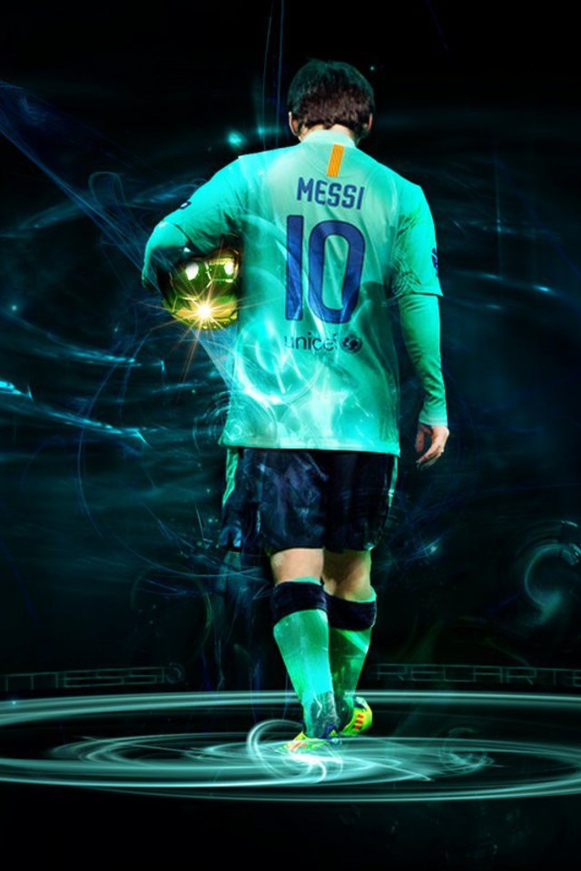 Wallpaper Para Iphone Lionel Messi Fc Barcelone Bar 231 A Stars Du Football Lecteur