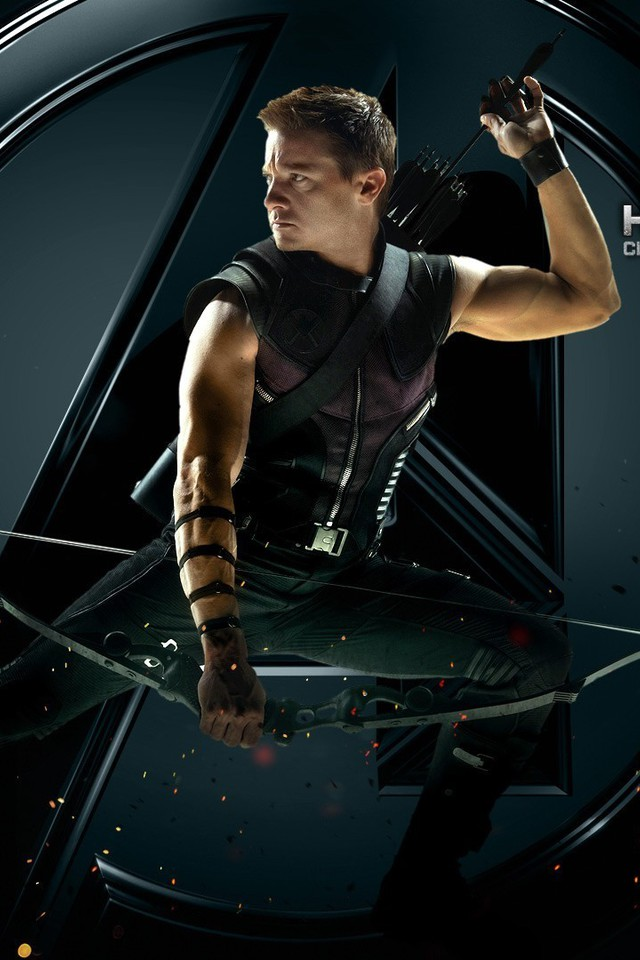 Red Wallpaper Iphone 4 Hawkeye Jeremy Renner The Avengers Movie Arrows Wallpaper