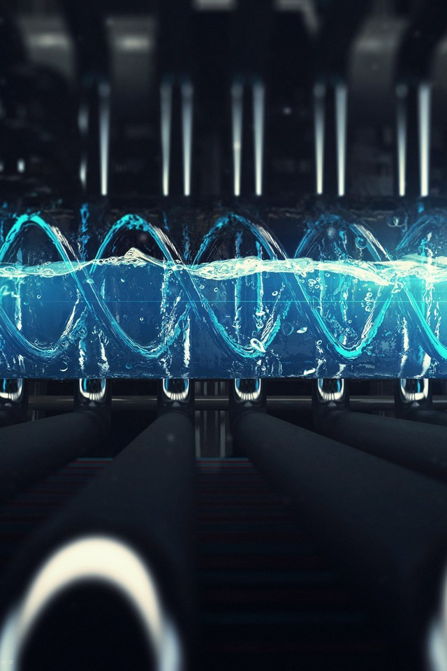 Dna 3d Wallpapers Science Blue Futuristic Liquid Technology Technologic T