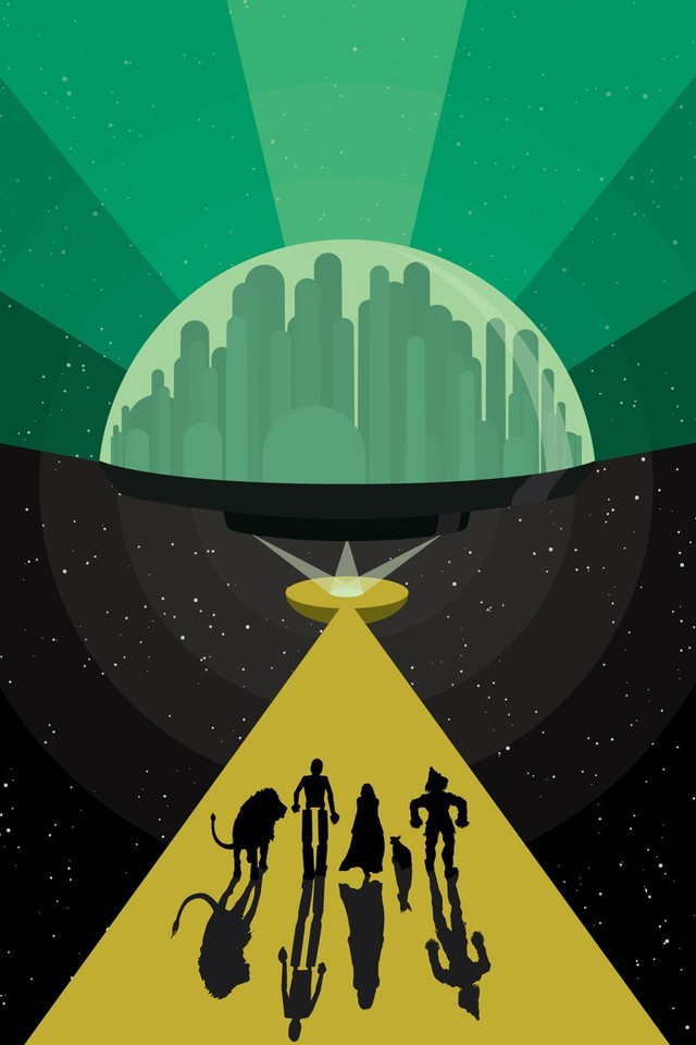 City Wallpaper Iphone Silhouettes Paths Wizard Of Oz Artwork Cities Wallpaper